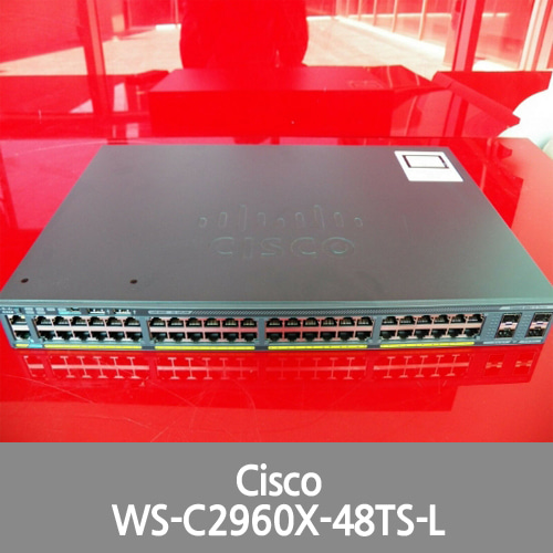 [Cisco] WS-C2960X-48TS-L Catalyst 2960-X 48 GigE, 4 x 1G SFP, LAN Base