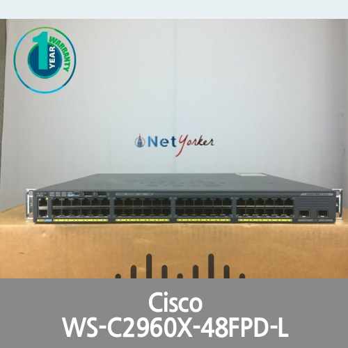 [Cisco] WS-C2960X-48FPD-L 2960X 48-Port PoE LAN BASE SWITCH ■FASTSHIP■