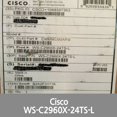 [Cisco] Catalyst WS-C2960X-24TS-L -24-Ports Ethernet Switch in original sealed box