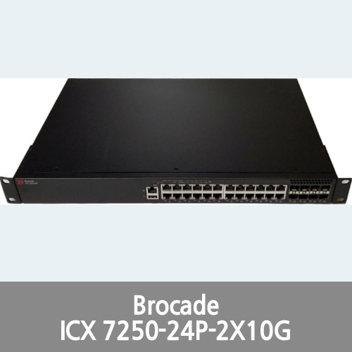 [Brocade][Ruckus] Ruckus ICX 7250-24P-2X10G 24-Port 10/100/100 PoE / 10GbE Switch Bundle