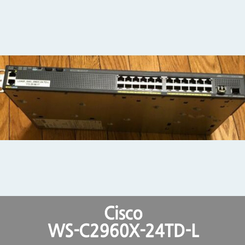 [Cisco] WS-C2960X-24TD-L Switch - 24 GigE, 2 x 10G SFP+, LAN Base
